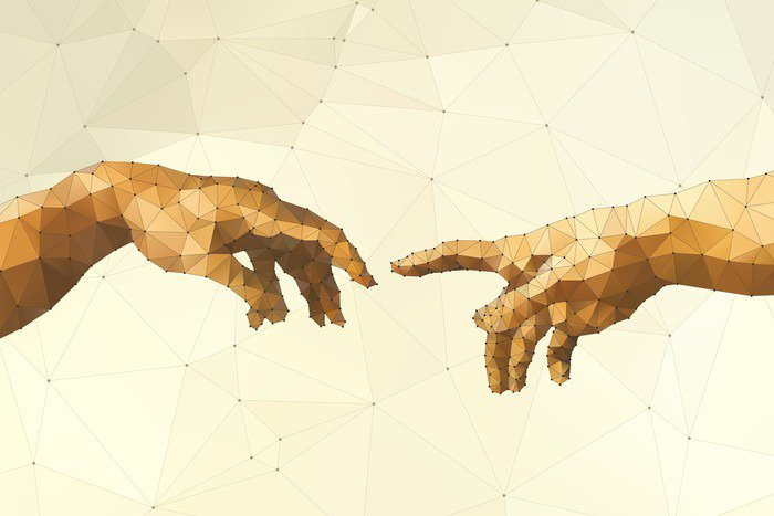 Abstract God's hand vector illustration