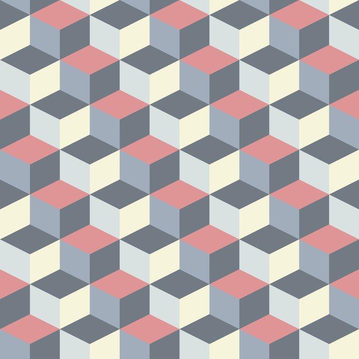 Fototapeta Vinylowa Abstrakcyjne tło sześcienny geometryczny wzór - Tematy