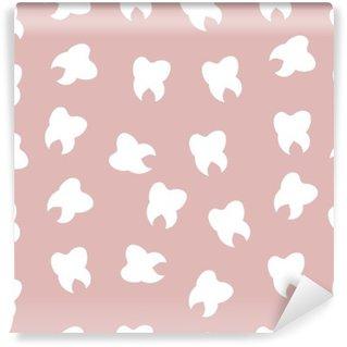 Abwaschbare Fototapete Das Muster der Zähne, hell, Zahnarzt