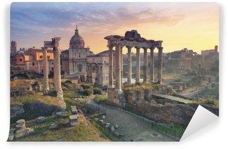 Abwaschbare Fototapete Forum Romanum. Foto des Forum Romanum in Rom, Italien bei Sonnenaufgang.
