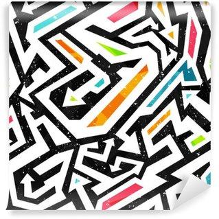 Abwaschbare Fototapete Graffiti nahtlose Muster