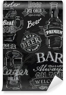 Abwaschbare Fototapete Kreide Bier