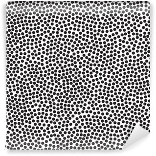 Abwaschbare Fototapete Polka Dot Hintergrund, nahtlose Muster. Schwarz und weiß. Vektor-Illustration EPS 10