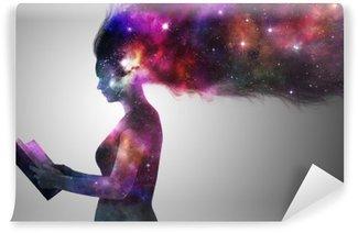Abwaschbare Fototapete Universe Frau