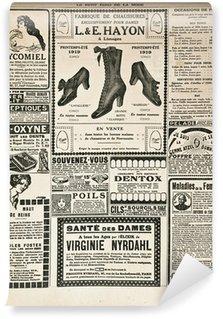 Abwaschbare Fototapete Zeitungsseite mit antiken Werbung