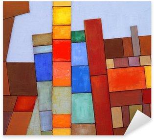 Pixerstick per Tutte le Superfici A Painted Collage Astratto
