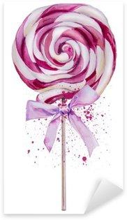 Adesivo Pixerstick Acquarello dolce Lollipop