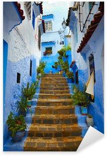 Pixerstick per Tutte le Superfici All'interno della città marocchina blu Chefchaouen Medina