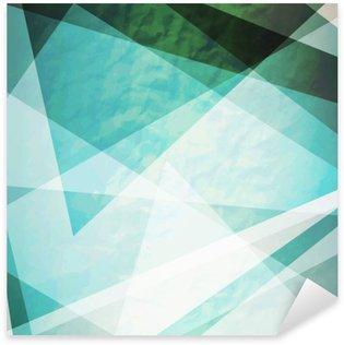 Adesivo Pixerstick Astrazione retrò triangoli Grunge vettore sfondo