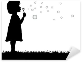 Pixerstick per Tutte le Superfici Bambina che soffia bolle di sapone