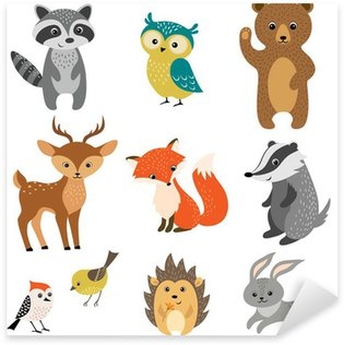 Pixerstick per Tutte le Superfici Carino Forest Animals