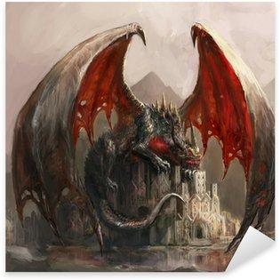 Adesivo Pixerstick Castello Drago