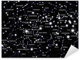 Pixerstick per Tutte le Superfici Costellazioni famosi e stelle nel cielo notturno