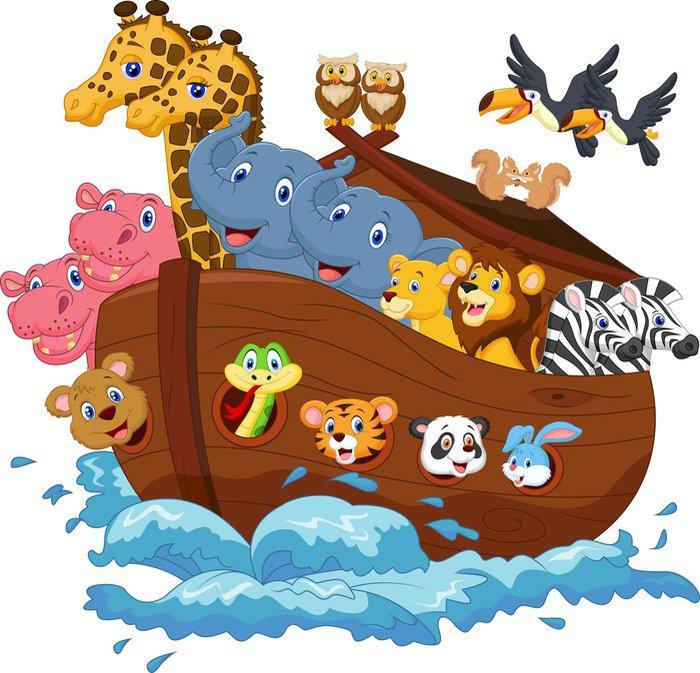 Adesivo da parete cartone animato l arca di noè pixers