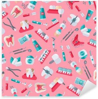 Pixerstick per Tutte le Superfici Dentista seamless su sfondo rosa