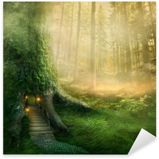 Pixerstick per Tutte le Superfici Fantasia casa sull'albero