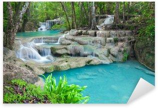 Pixerstick per Tutte le Superfici Flusso di acqua blu nel parco nazionale di Erawan cascata Thailandia