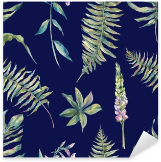 Adesivo Pixerstick Foglia acquerello Tropical seamless