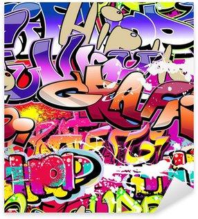 Adesivo Pixerstick Graffiti di fondo senza soluzione di continuità. Hip-hop urban art