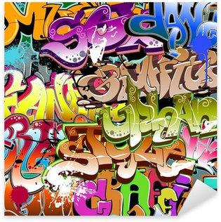Adesivo Pixerstick Graffiti senza soluzione di continuità. Arte tessuto urbano