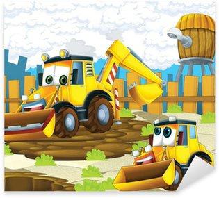 Pixerstick per Tutte le Superfici Il cartone animato digger - illustrazione per i bambini