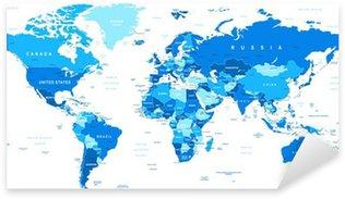 Pixerstick per Tutte le Superfici Illustrazione vettoriale altamente dettagliata di map.Borders mondo, paesi e città .__