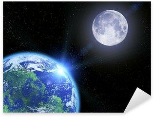 Pixerstick per Tutte le Superfici La terra la luna e le stelle nello spazio