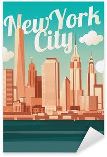 Pixerstick per Tutte le Superfici New York City Skyline