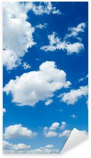 Pixerstick per Tutte le Superfici Nuvole bianche nel cielo blu. Cloudscape