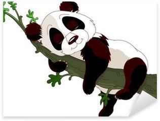 Pixerstick per Tutte le Superfici Panda dorme su un ramo