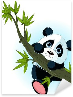 Pixerstick per Tutte le Superfici Panda gigante tree climbing