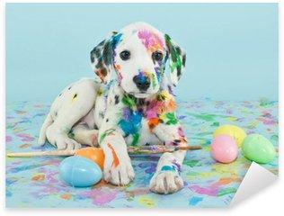 Pixerstick per Tutte le Superfici Pasqua Dalmatain Puppy