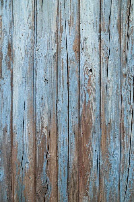 Adesivo per frigorifero vecchio muro di legno blu pixers for Adesivi per legno