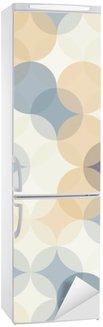 Adesivo per Frigorifero Vector moderno senza soluzione di cerchi colorati modello di geometria, colore di sfondo astratto geometrica, stampa carta da parati, retro struttura, disegno di moda pantaloni a vita bassa, __