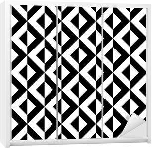 Adesivo per Guardaroba Abstract pattern geometrico