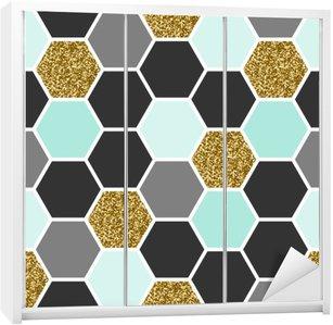 Adesivo per Guardaroba Hexagon Seamless Pattern