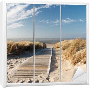 Adesivo per Guardaroba Mare del Nord spiaggia di Langeoog