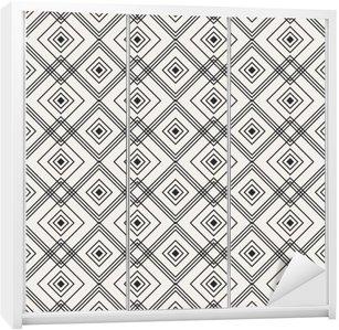 Adesivo per Guardaroba Seamless pattern geometrici