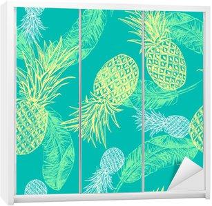 Adesivo per Guardaroba Seamless tropicale