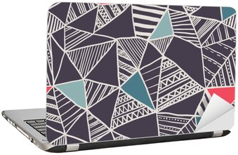 Adesivo per Laptop Abstract seamless pattern di doodle