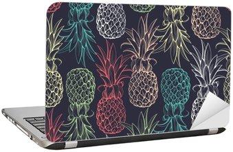 Adesivo per Laptop Ananas seamless pattern