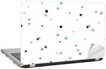Adesivo per Laptop Astratto modello senza saldatura su sfondo bianco con il nero e Gol