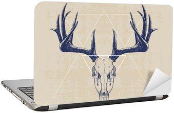 Adesivo per Laptop deer skull