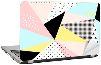 Adesivo per Laptop Geometrico disegno Memphis background.Retro per l'invito, biglietto da visita, poster o banner.
