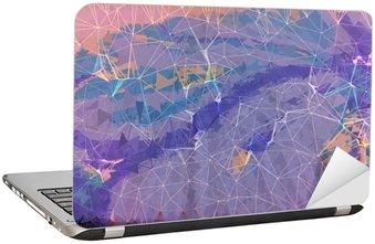 Adesivo per Laptop Rosa e viola grunge astratto illustrazione