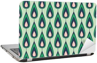 Adesivo per Laptop Seamless vintage pattern