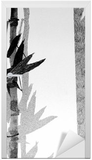 Adesivo per Porte Bamboo Texture