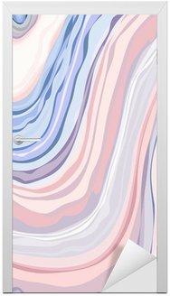 Adesivo per Porte Marmo Pattern - Struttura astratta con morbidi colori pastello 2016