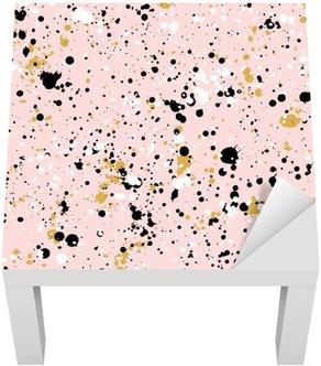 Adesivo per Tavolino Lack A mano di vernice disegnato schizzi di texture, vector seamless