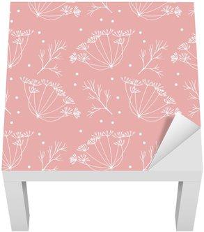 Adesivo per Tavolino Lack Aneto o finocchio fiori e foglie modello.